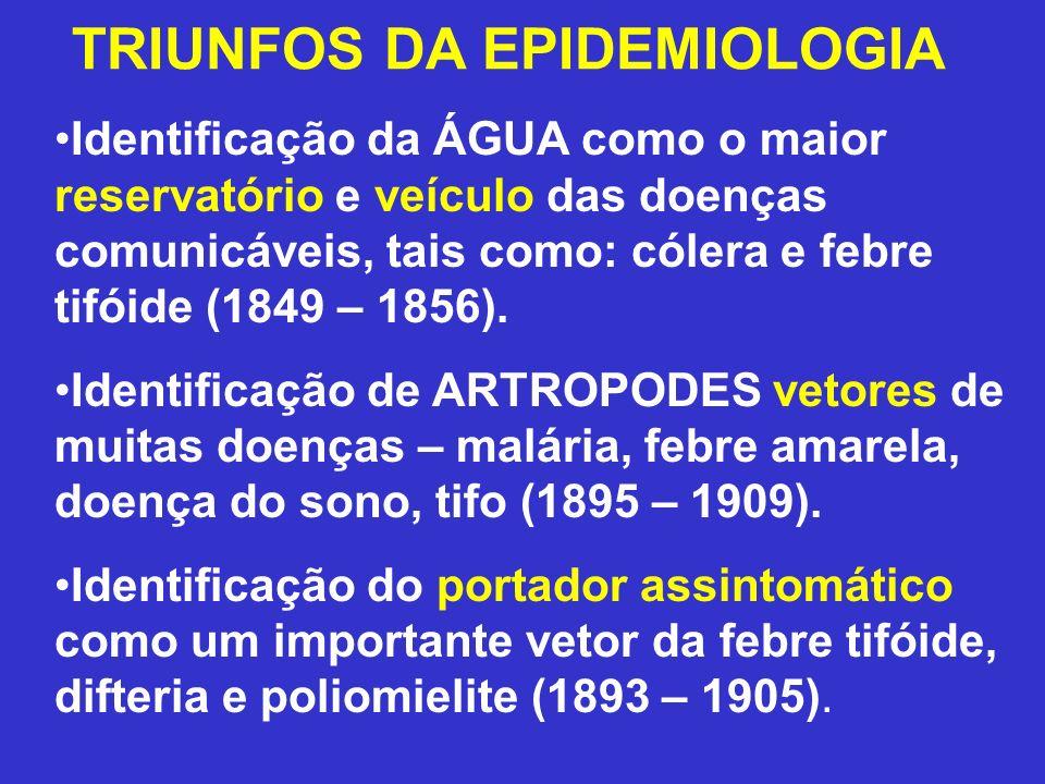 TRIUNFOS DA EPIDEMIOLOGIA