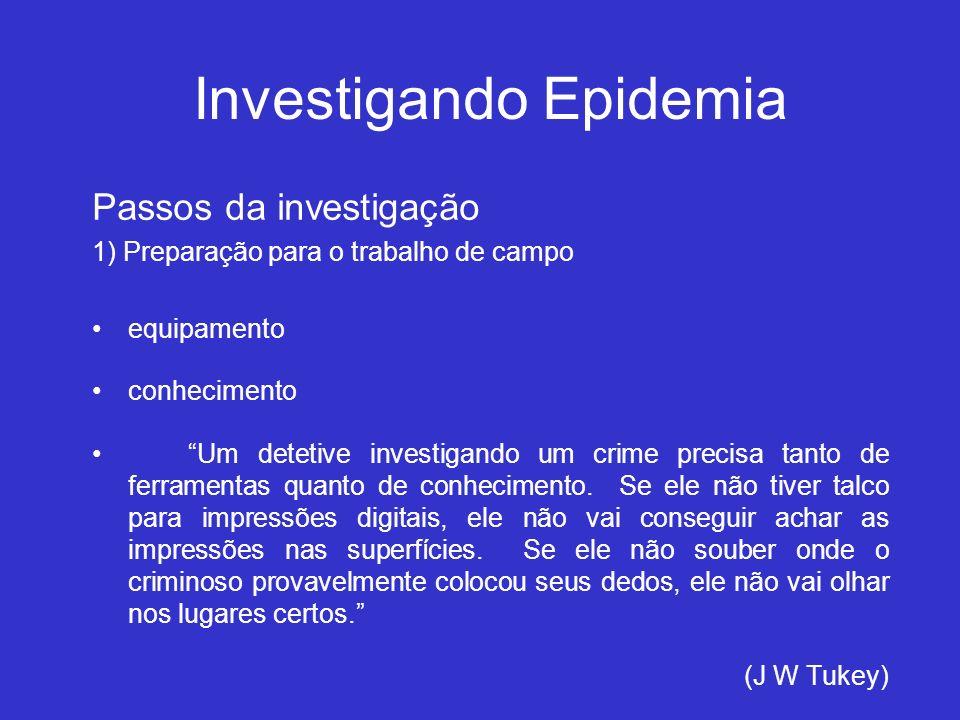 Investigando Epidemia