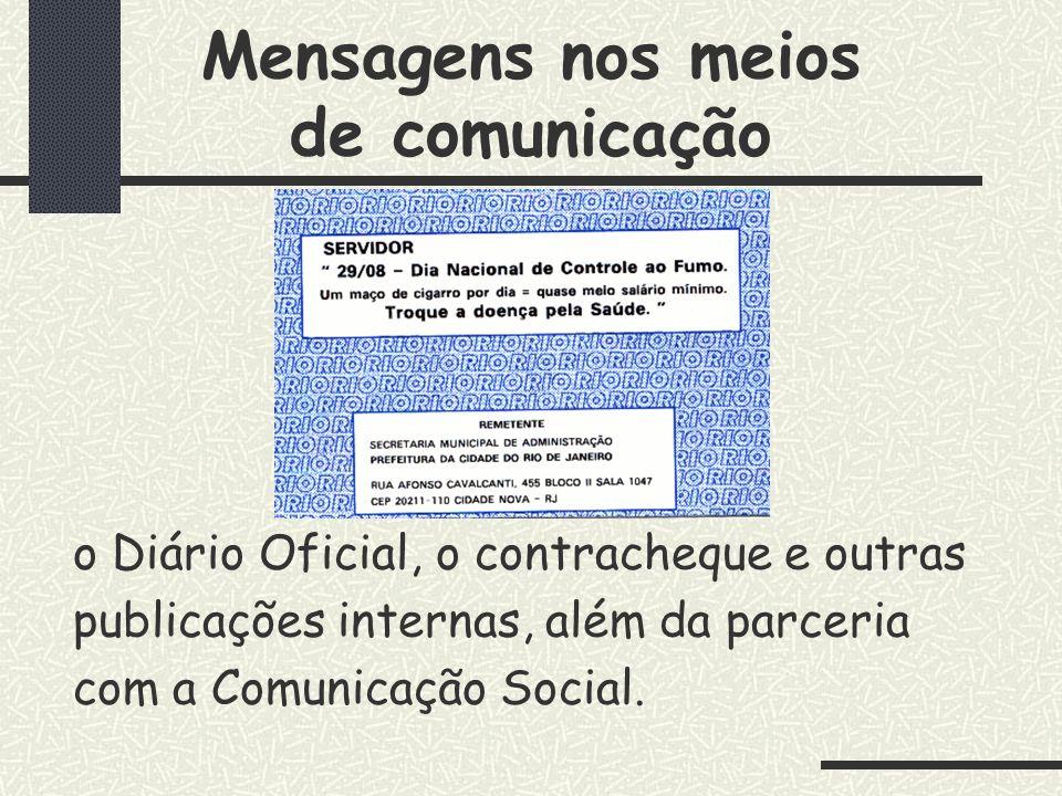 Mensagens nos meios de comunicação