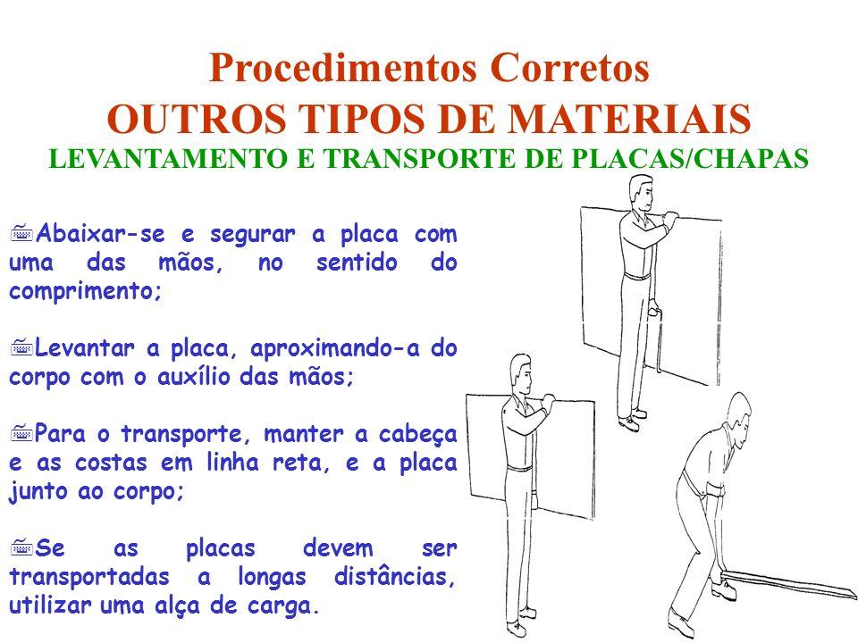 Procedimentos Corretos OUTROS TIPOS DE MATERIAIS
