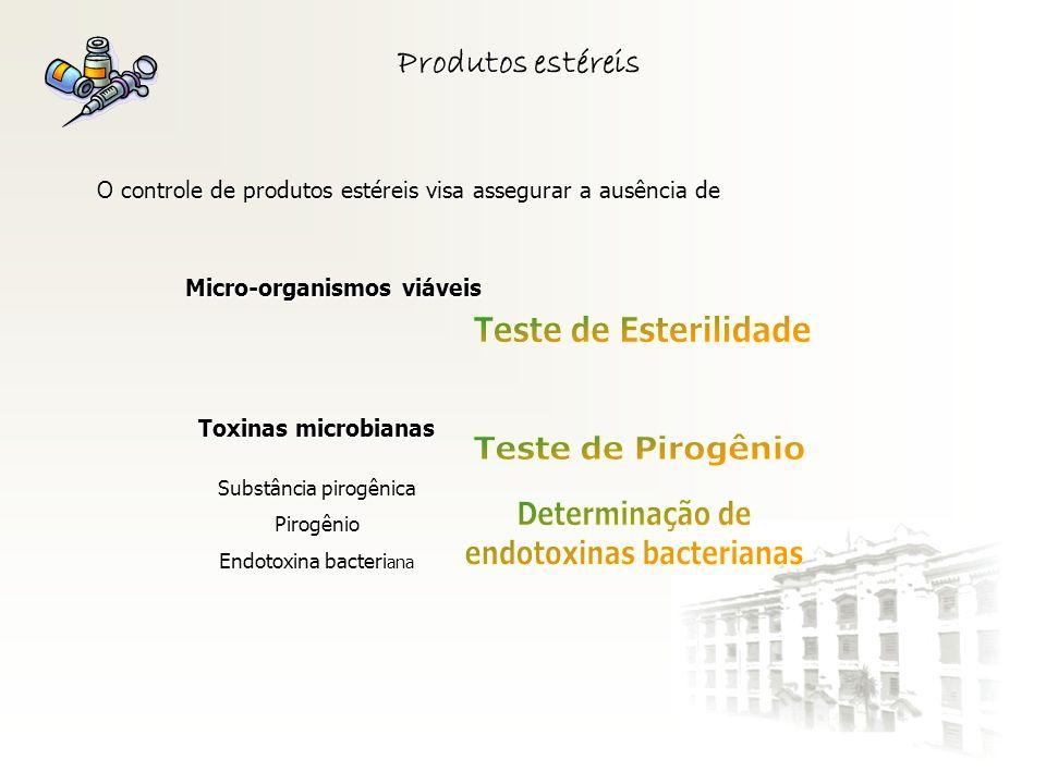 Micro-organismos viáveis endotoxinas bacterianas