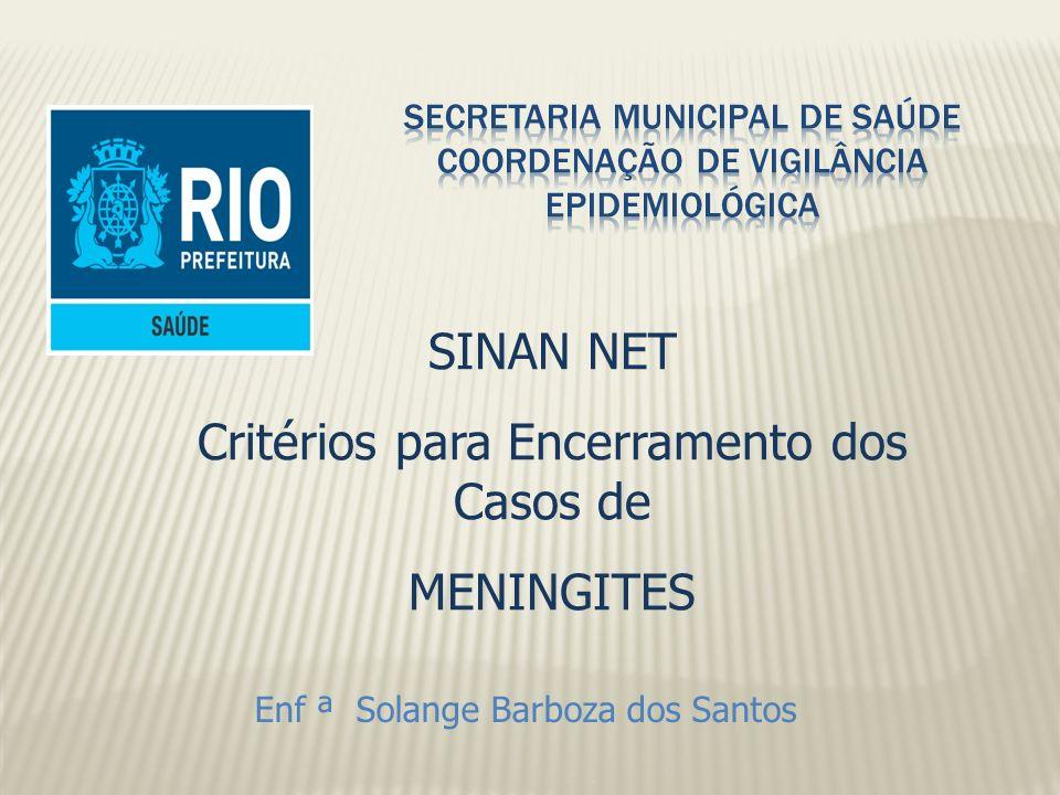 SECRETARIA MUNICIPAL DE SAÚDE COORDENAÇÃO DE VIGILÂNCIA EPIDEMIOLÓGICA