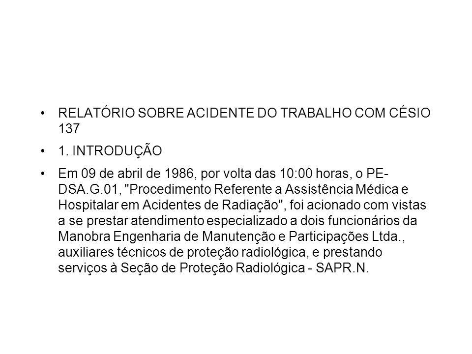 RELATÓRIO SOBRE ACIDENTE DO TRABALHO COM CÉSIO 137