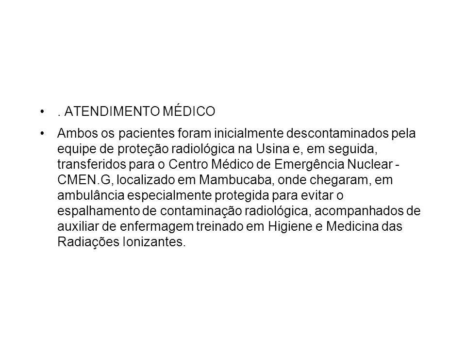 . ATENDIMENTO MÉDICO