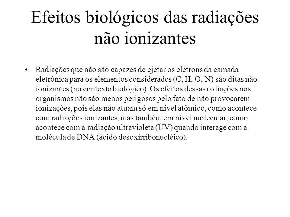 Efeitos biológicos das radiações não ionizantes