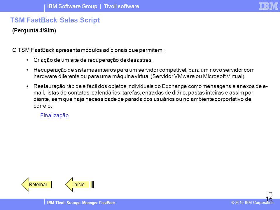 TSM FastBack Sales Script