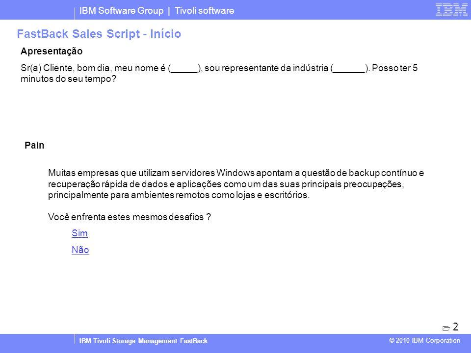 FastBack Sales Script - Início