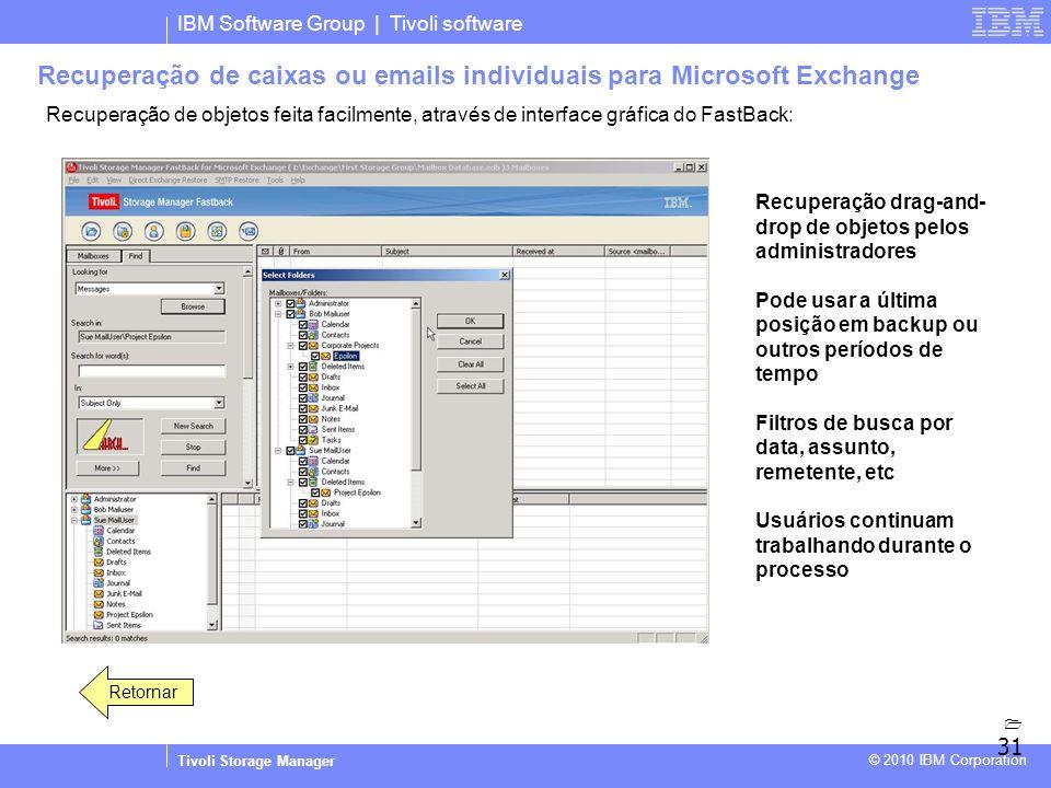 Recuperação de caixas ou emails individuais para Microsoft Exchange