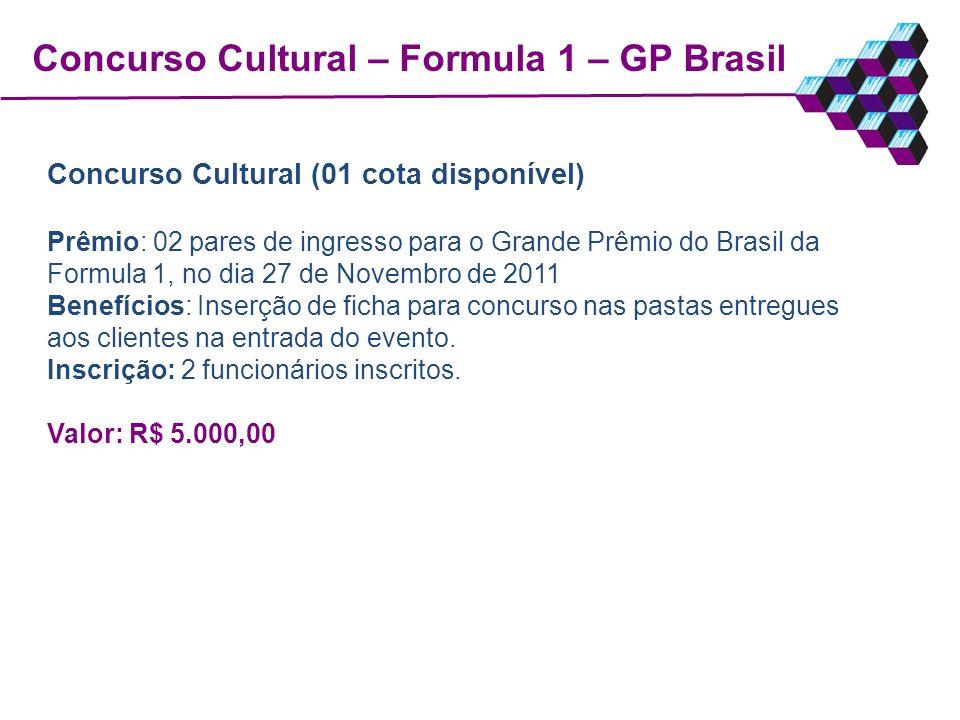 Concurso Cultural – Formula 1 – GP Brasil
