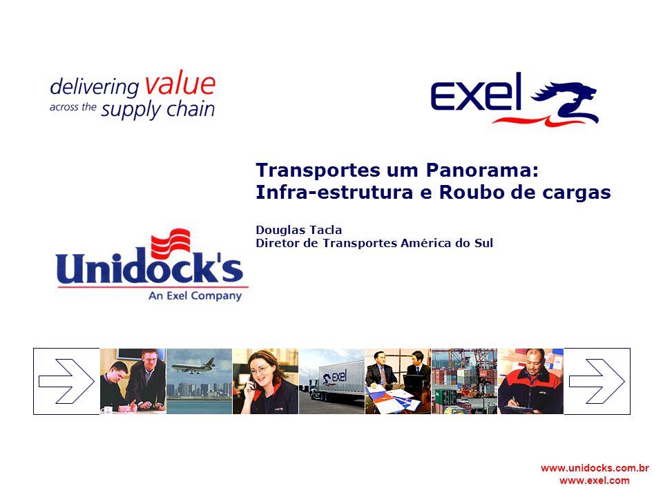 Transportes um Panorama: Infra-estrutura e Roubo de cargas Douglas Tacla Diretor de Transportes América do Sul