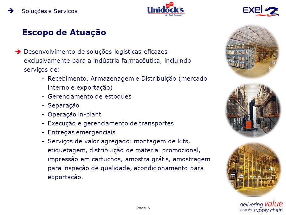 Soluções e ServiçosEscopo de Atuação.