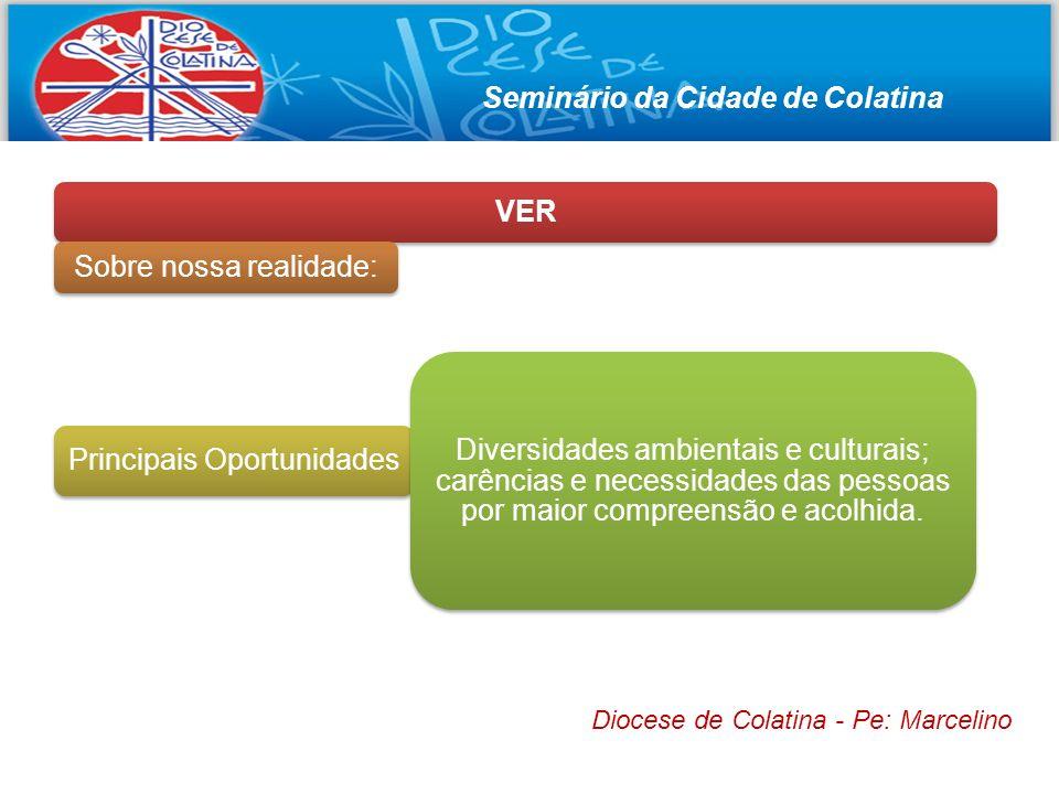 Seminário da Cidade de Colatina VER Sobre nossa realidade: