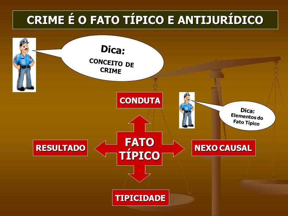 CRIME É O FATO TÍPICO E ANTIJURÍDICO
