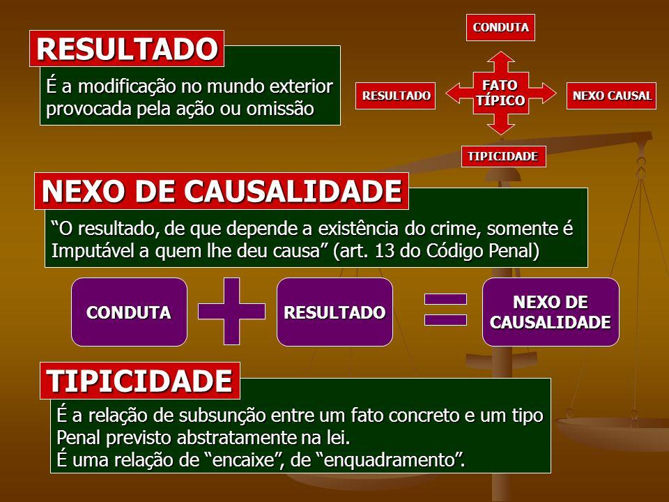 RESULTADO NEXO DE CAUSALIDADE TIPICIDADE