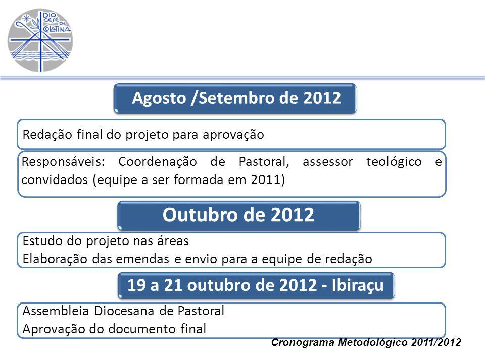 Outubro de 2012 Agosto /Setembro de 2012
