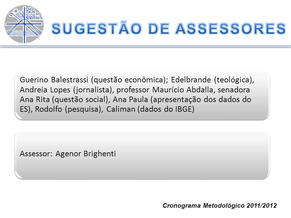 SUGESTÃO DE ASSESSORES