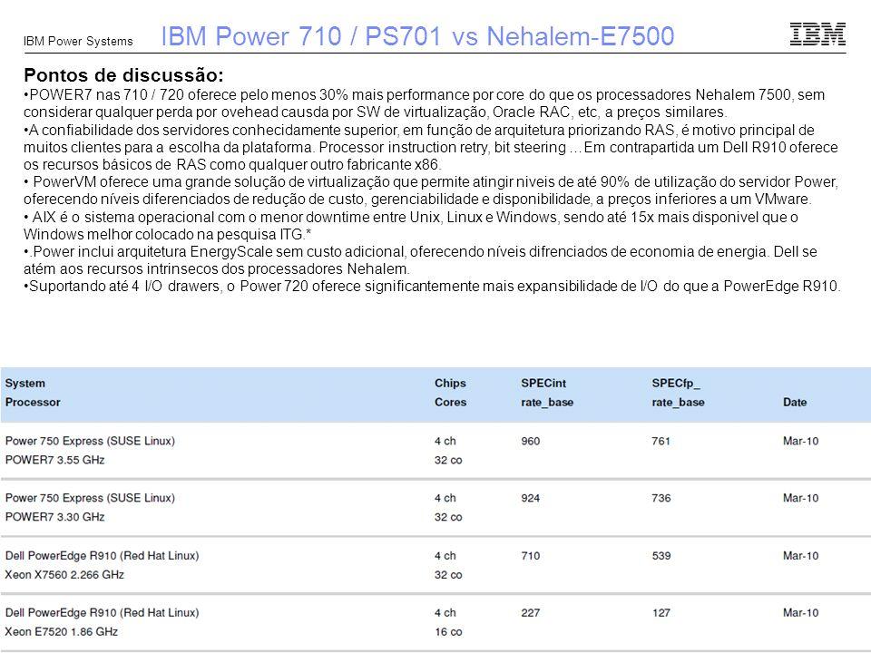 IBM Power 710 / PS701 vs Nehalem-E7500