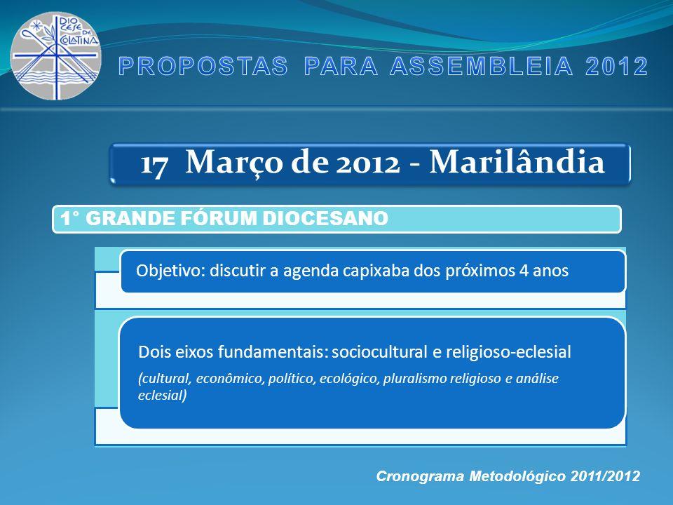 PROPOSTAS PARA ASSEMBLEIA 2012