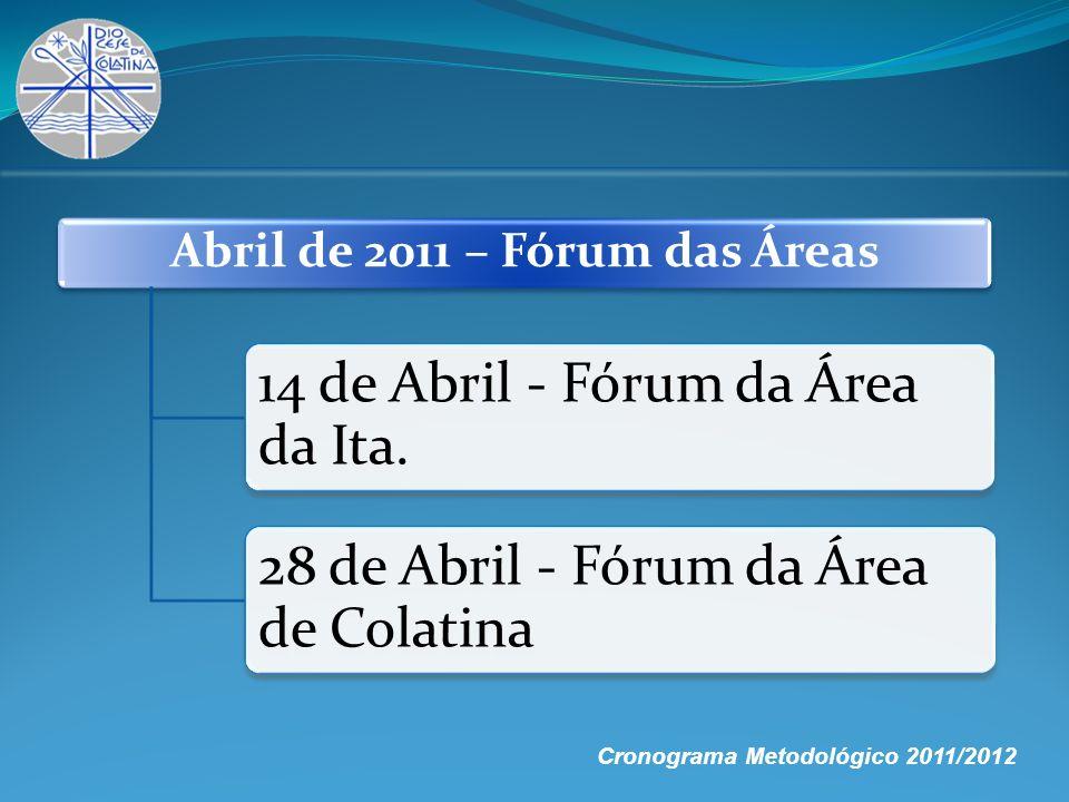 Abril de 2011 – Fórum das Áreas