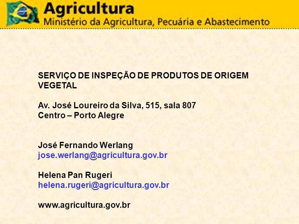 SERVIÇO DE INSPEÇÃO DE PRODUTOS DE ORIGEM VEGETAL
