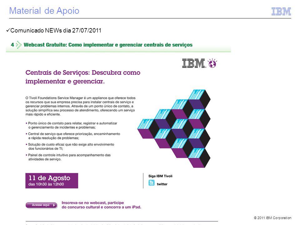 Material de Apoio Comunicado NEWs dia 27/07/2011