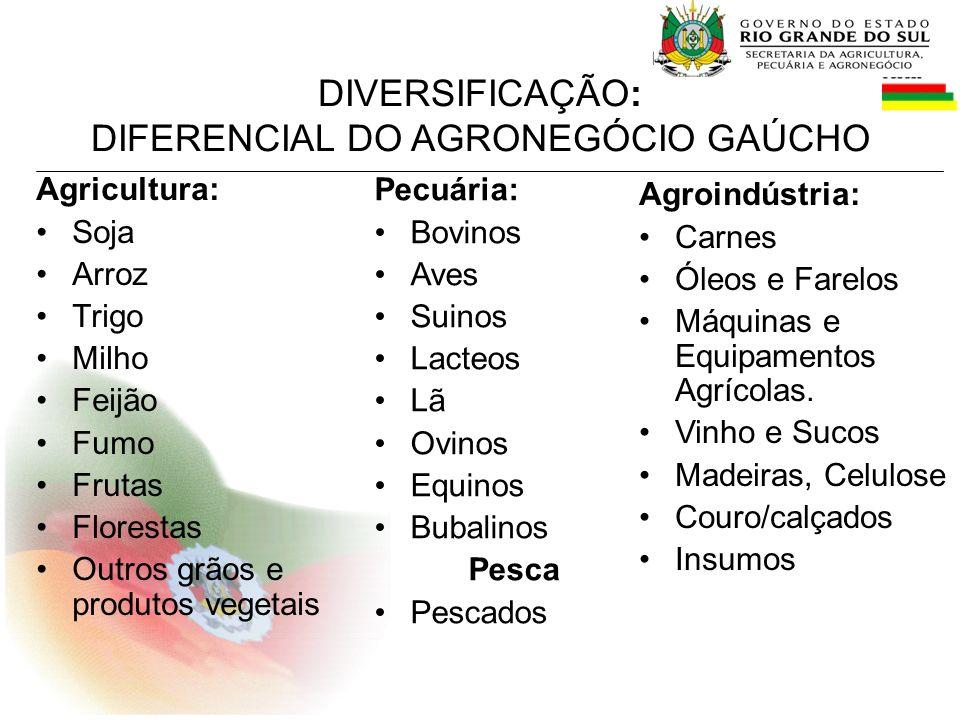DIFERENCIAL DO AGRONEGÓCIO GAÚCHO