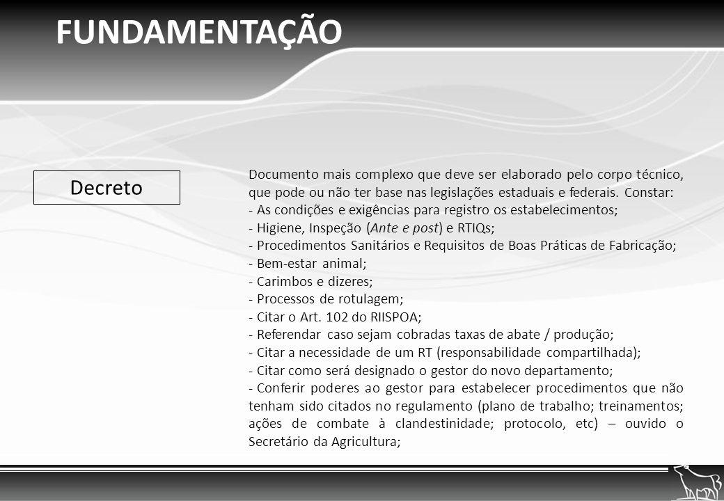 FUNDAMENTAÇÃO Decreto