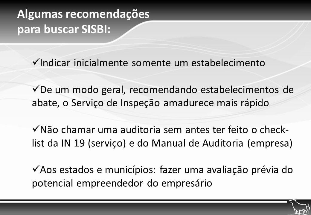 Algumas recomendações para buscar SISBI: