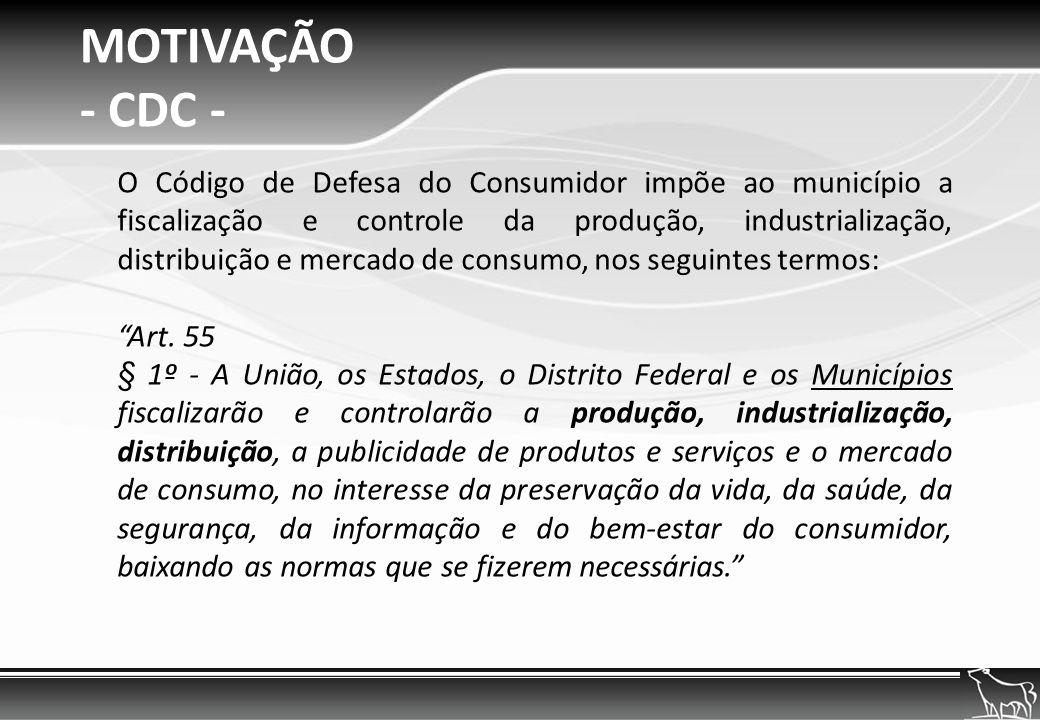 MOTIVAÇÃO - CDC -