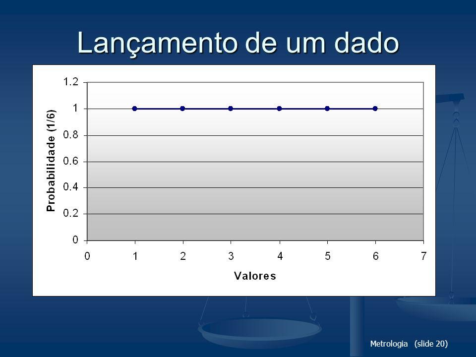 Lançamento de um dado Metrologia (slide 20)