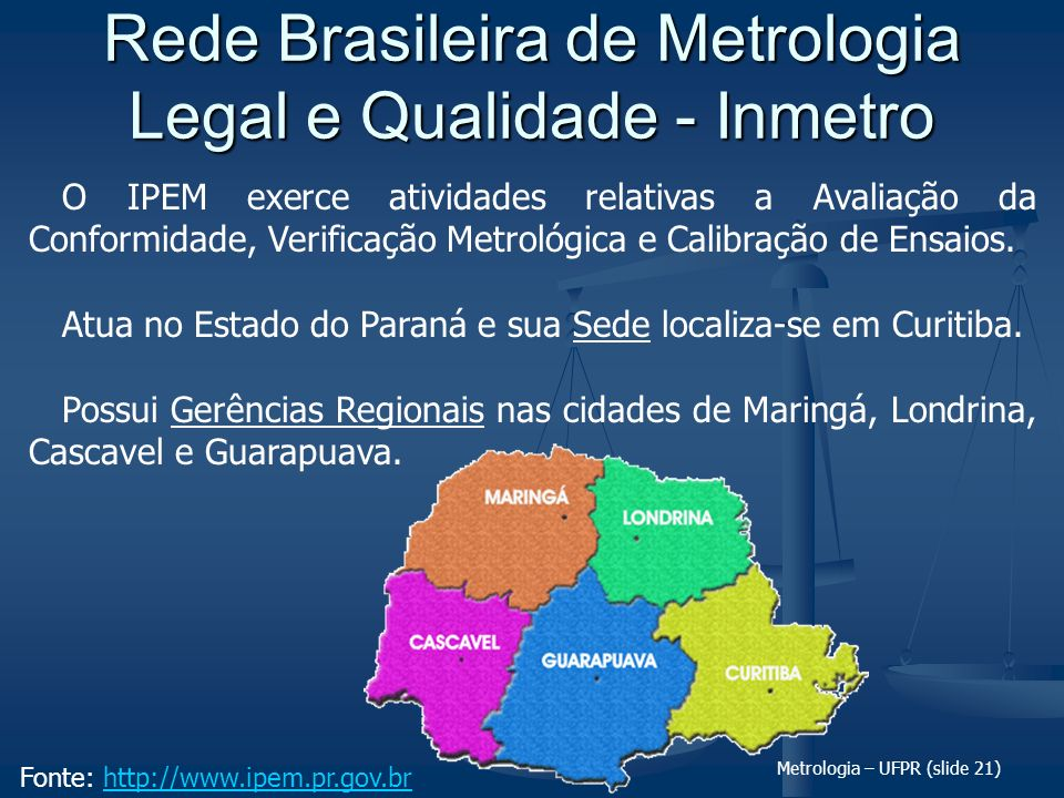 Rede Brasileira de Metrologia Legal e Qualidade - Inmetro