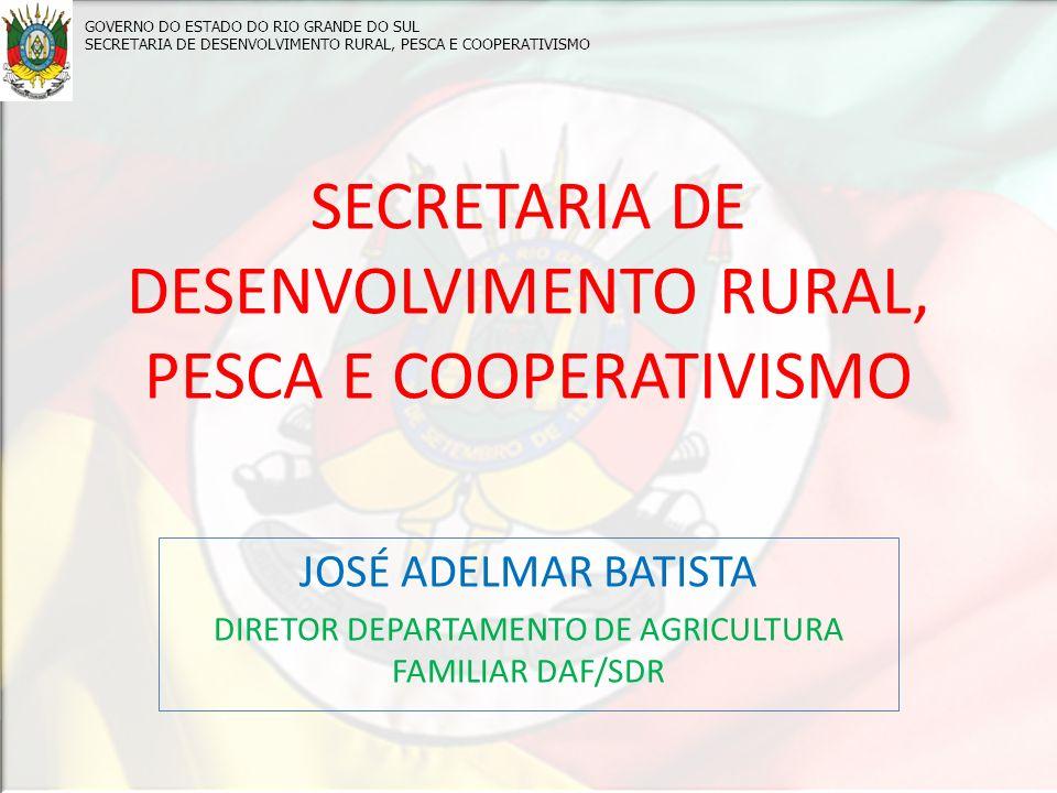 SECRETARIA DE DESENVOLVIMENTO RURAL, PESCA E COOPERATIVISMO
