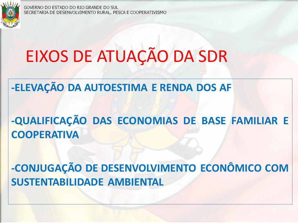 EIXOS DE ATUAÇÃO DA SDR -ELEVAÇÃO DA AUTOESTIMA E RENDA DOS AF