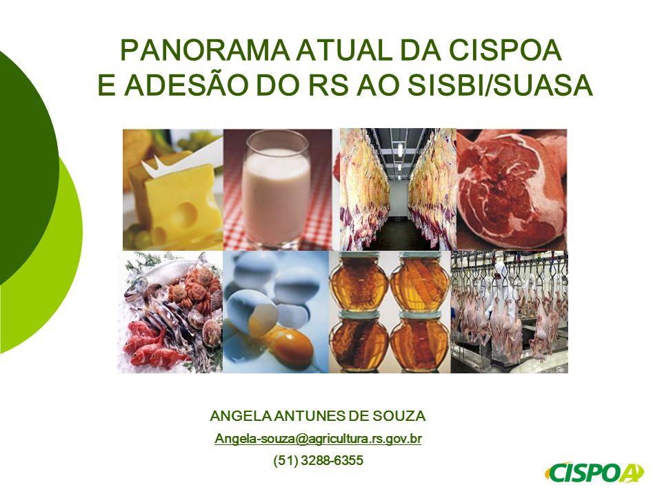 PANORAMA ATUAL DA CISPOA E ADESÃO DO RS AO SISBI/SUASA