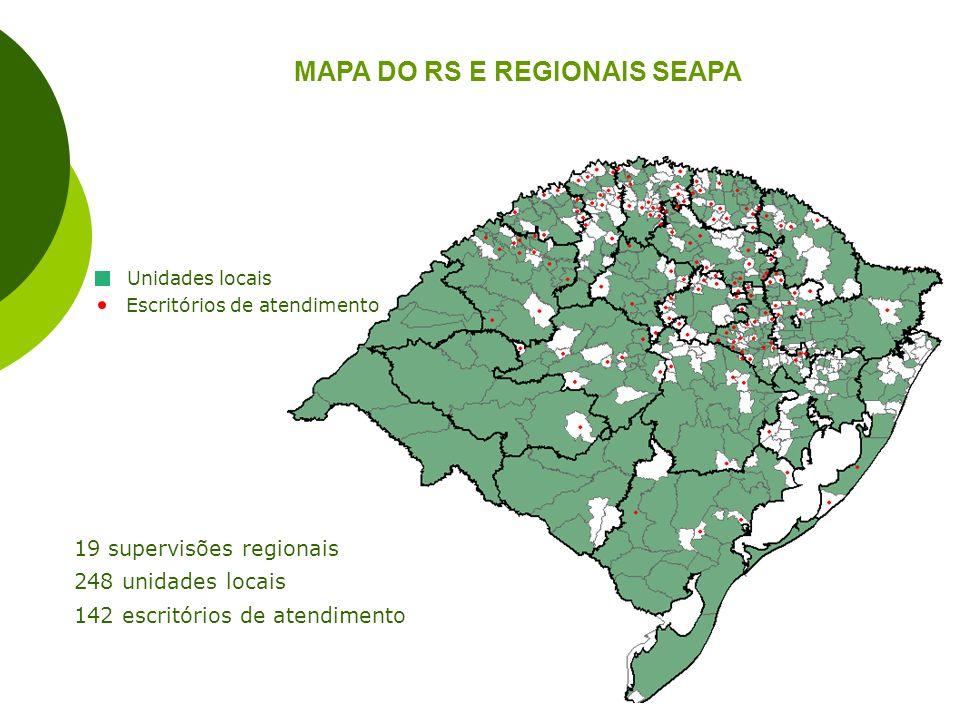 MAPA DO RS E REGIONAIS SEAPA