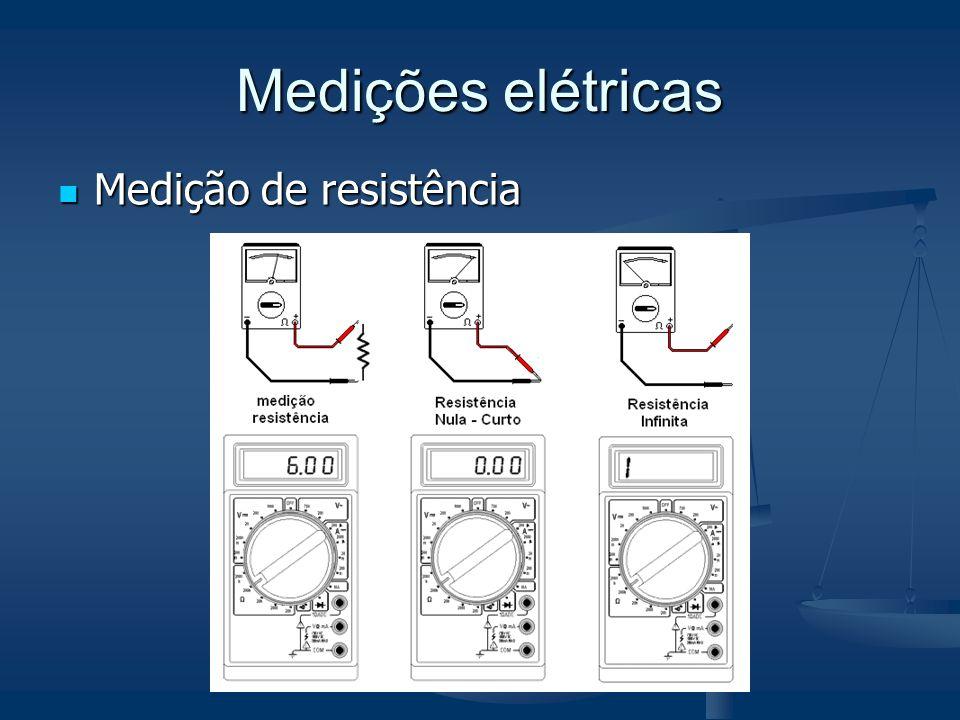 Medições elétricas Medição de resistência