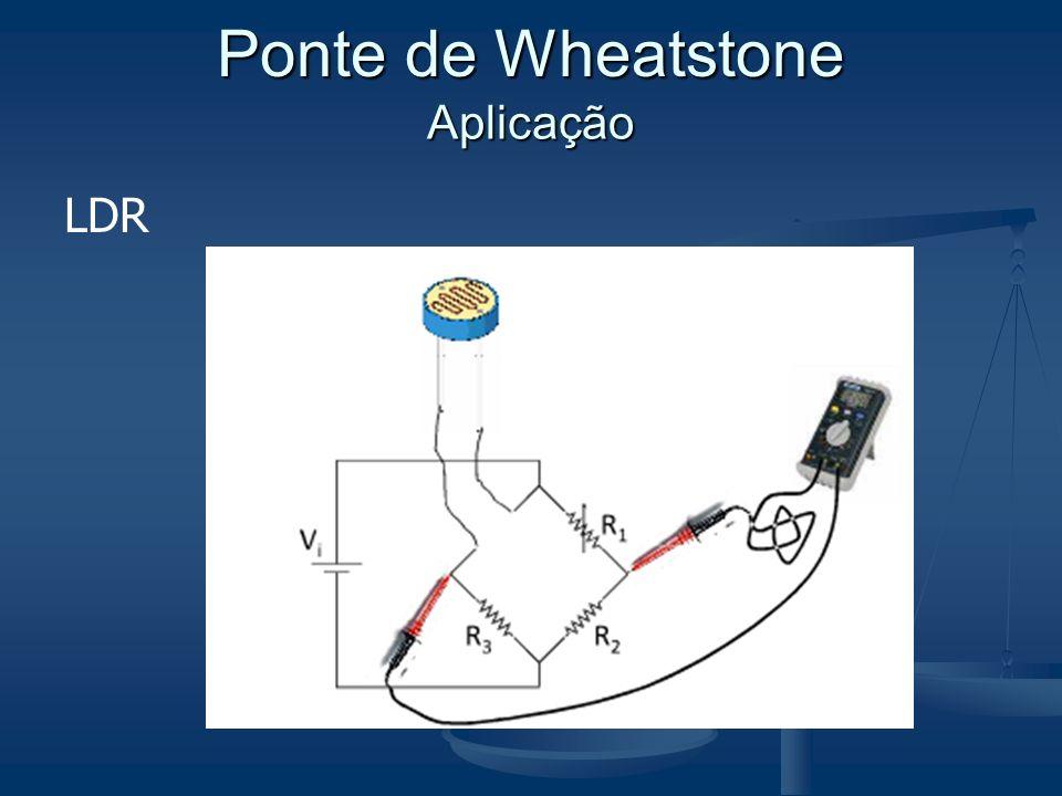 Ponte de Wheatstone Aplicação LDR