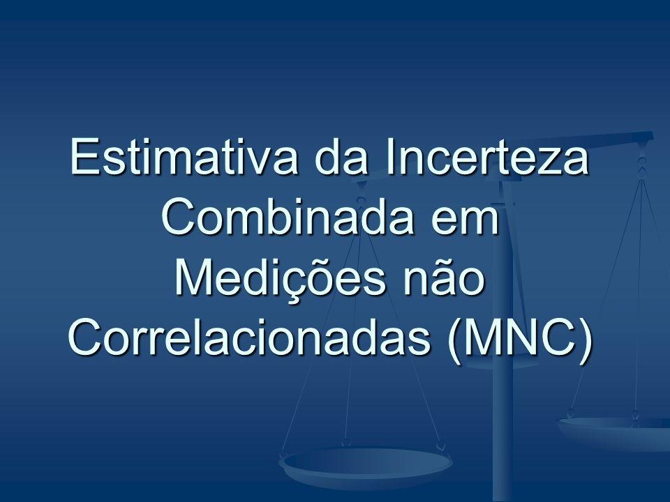 Estimativa da Incerteza Combinada em Medições não Correlacionadas (MNC)
