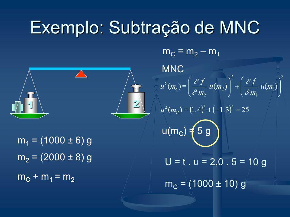 Exemplo: Subtração de MNC