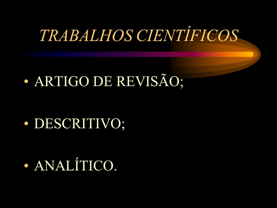 TRABALHOS CIENTÍFICOS