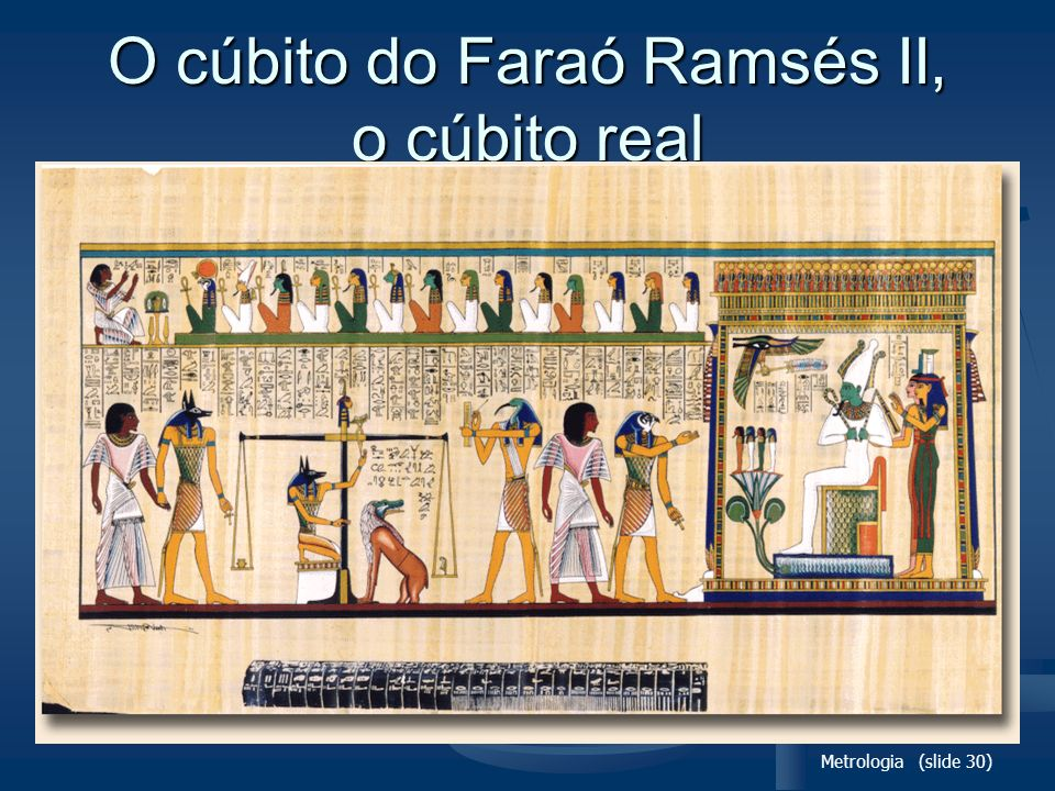 O cúbito do Faraó Ramsés II, o cúbito real