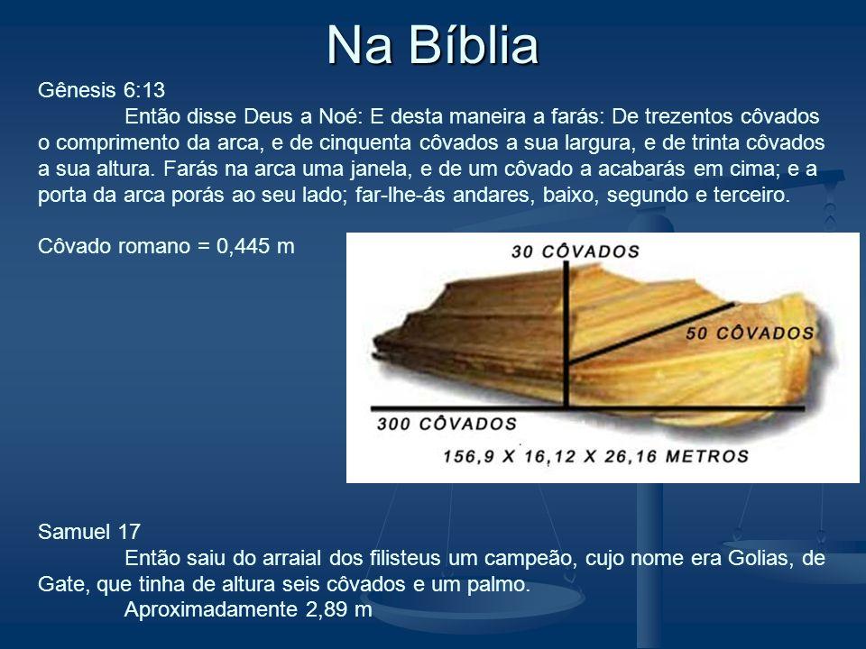 Na Bíblia Gênesis 6:13.