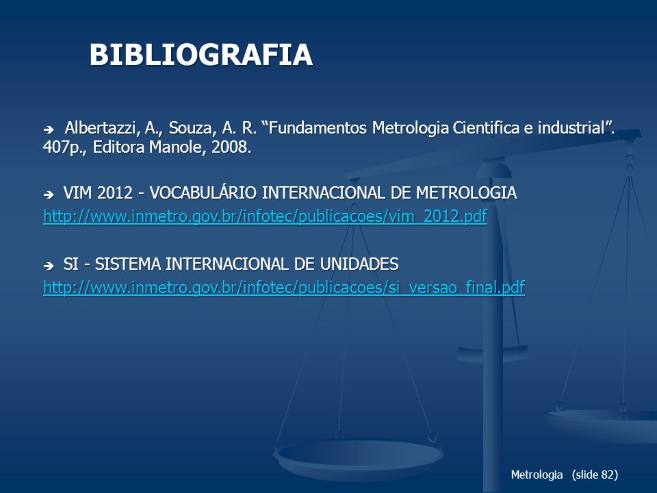 BIBLIOGRAFIA VIM 2012 - VOCABULÁRIO INTERNACIONAL DE METROLOGIA