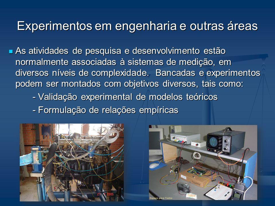 Experimentos em engenharia e outras áreas