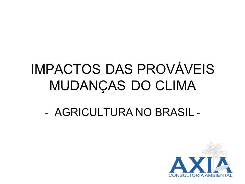 IMPACTOS DAS PROVÁVEIS MUDANÇAS DO CLIMA