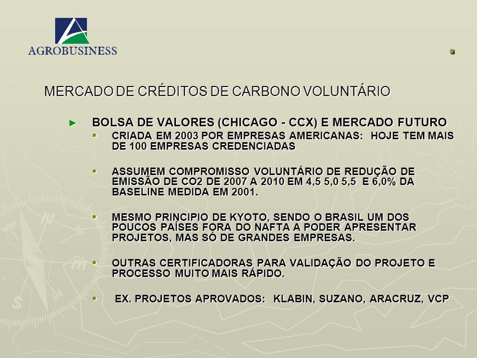 . MERCADO DE CRÉDITOS DE CARBONO VOLUNTÁRIO