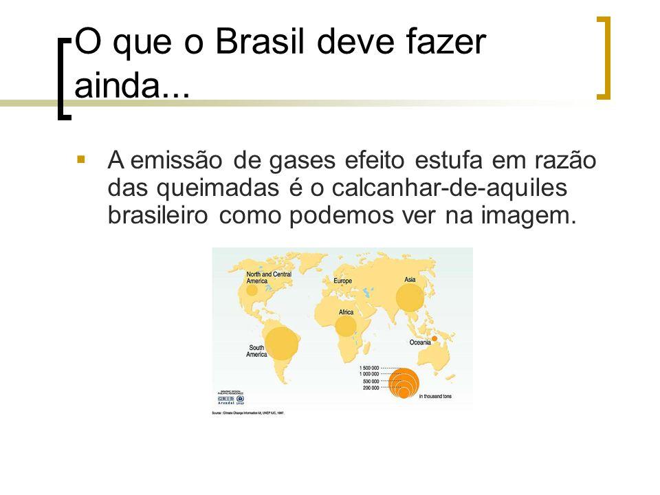 O que o Brasil deve fazer ainda...