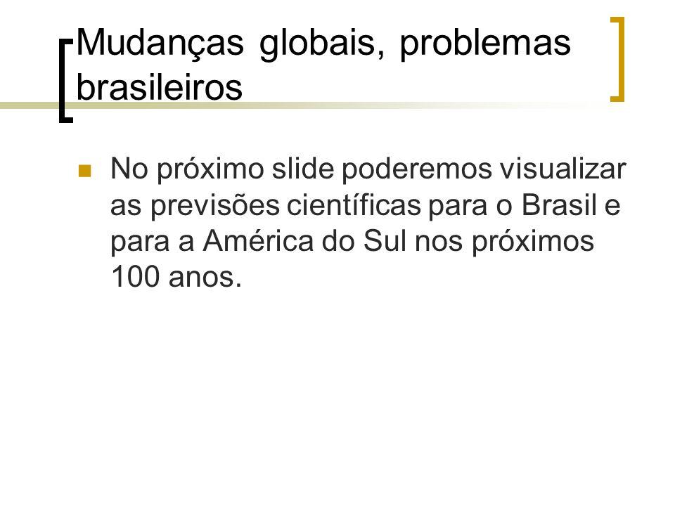 Mudanças globais, problemas brasileiros