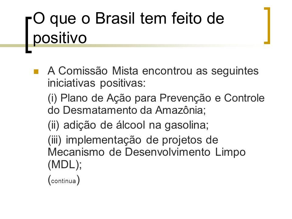 O que o Brasil tem feito de positivo