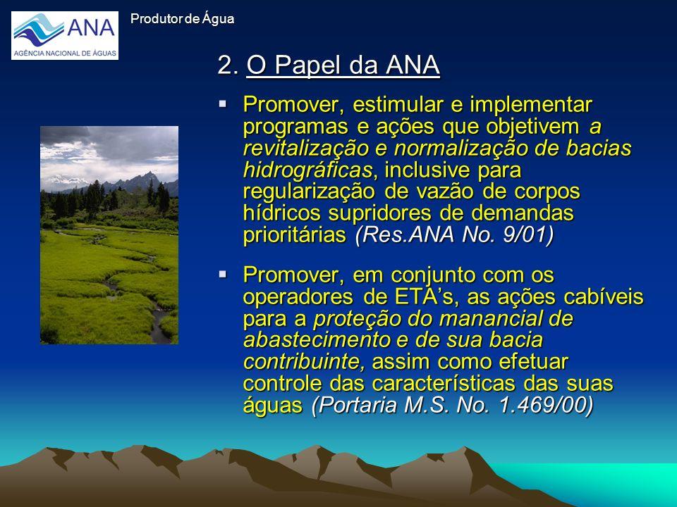 Produtor de Água 2. O Papel da ANA.